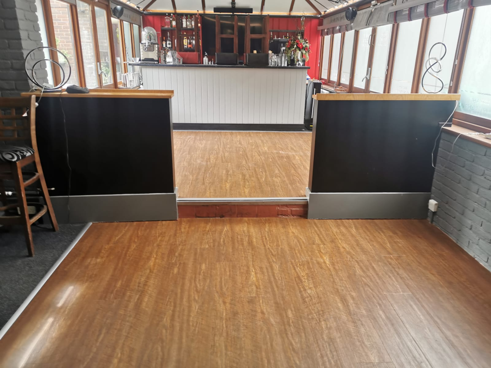 Commercial LVT fitted to a Pub Ringwood