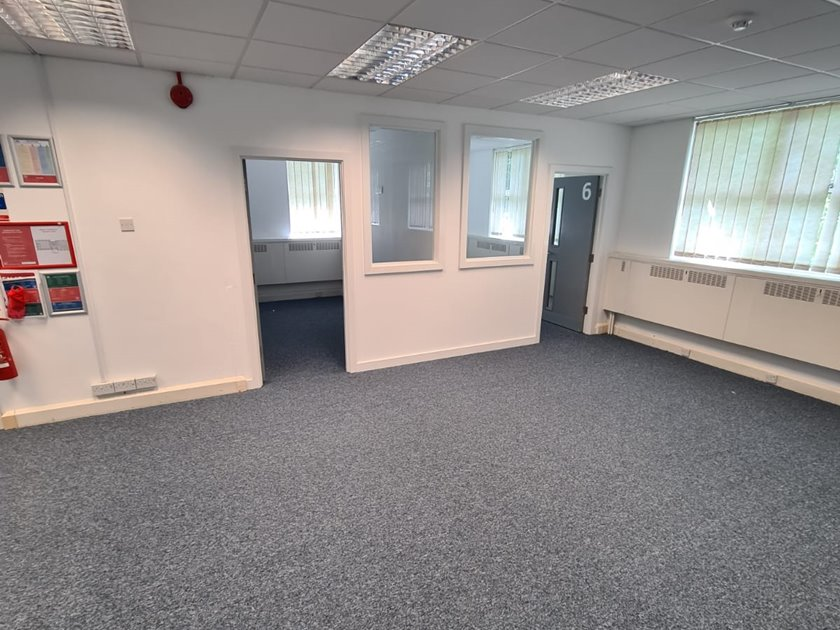 Commercial carpet fitted in Bournemouth office