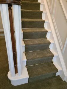Stair Carpet with Stair Rods Corfe Mullen